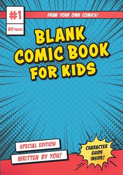 Picture of Blank Comic Book for Kids-Kids Activity Books