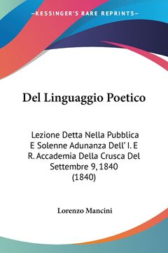 Picture of Del Linguaggio Poetico