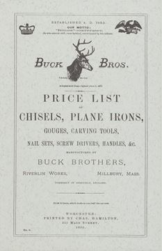 Picture of Buck Brothers Price List of Chisels, Plane Irons, Gouges, Carving Tools, Nail Sets, Screw Drivers, Handles, & c.