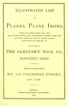 Picture of Sandusky Tool Co. 1877 Catalog