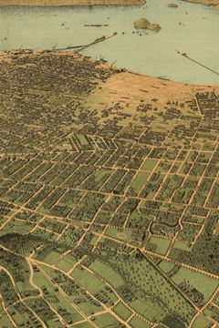 Picture of 1900 Bird's-Eye-View Map of Oakland, California