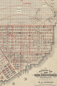 Picture of 1868 Railroad Map of the City of San Francisco, California