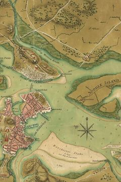 Picture of A plan of the town of Boston and its environs, with the lines, batteries, and incampments of the British and American armies
