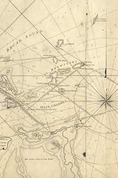 Picture of A chart of the harbour of Boston, with the soundings, sailing-marks, and other directions