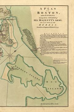 Picture of A plan of Boston, and its environs / shewing the true situation of His Majesty's army, and also those of the rebels
