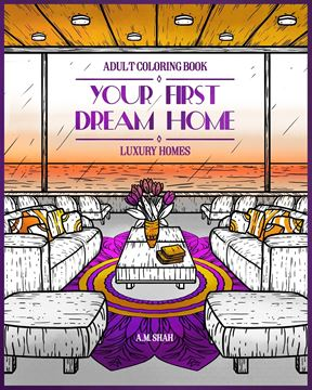 Picture of Adult Coloring Book Luxury Homes