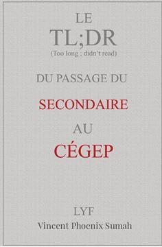 Picture of Le TL;DR du passage du secondaire au CÉGEP