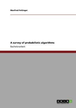 Picture of A survey of probabilistic algorithms