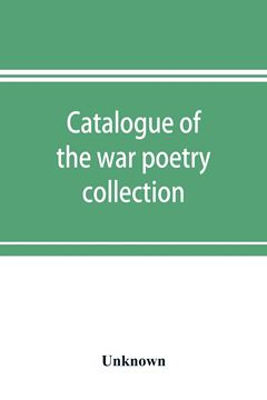 Picture of Catalogue of the war poetry collection