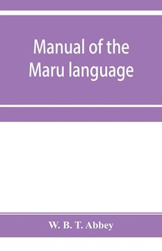 Picture of Manual of the Maru language, including a vocabulary of over 1000 words