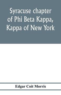 Picture of Syracuse chapter of Phi Beta Kappa, Kappa of New York
